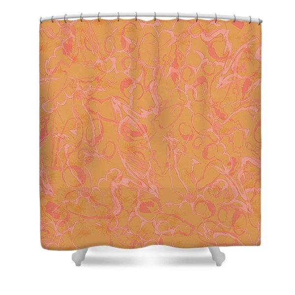 Analogous Dribble Painting Shower Curtain