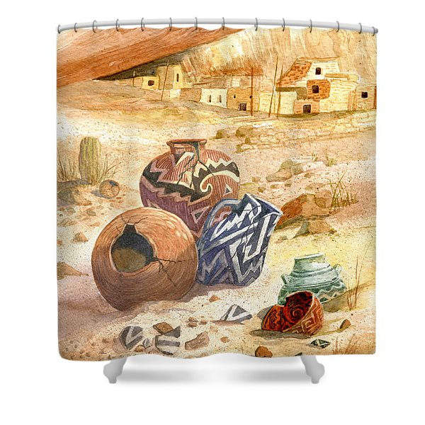 Anasazi Remnants Shower Curtain