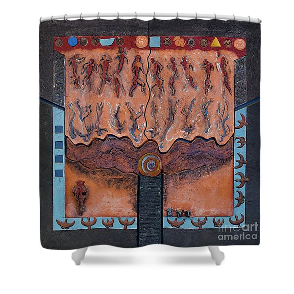 Ancestral Chart- Ancient Early - Hunters Gatherers - Chasseurs Cueilleurs - Cazadores Recolectores  Shower Curtain