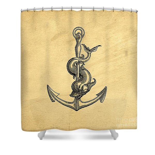 Anchor Vintage Shower Curtain