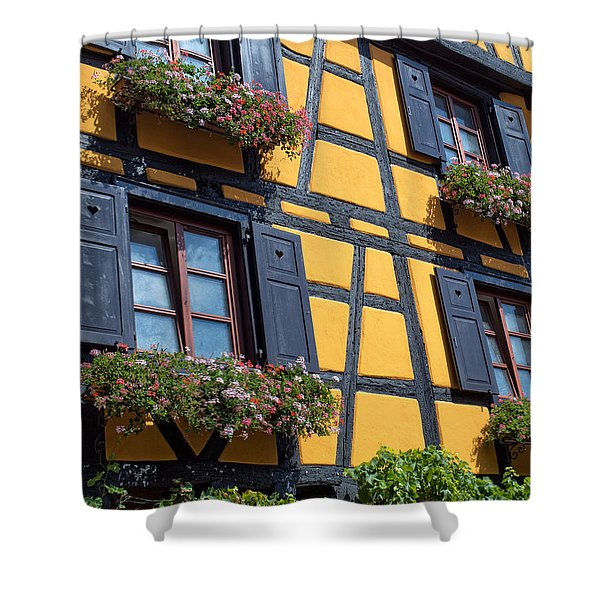 Ancient Alsace Auberge Shower Curtain