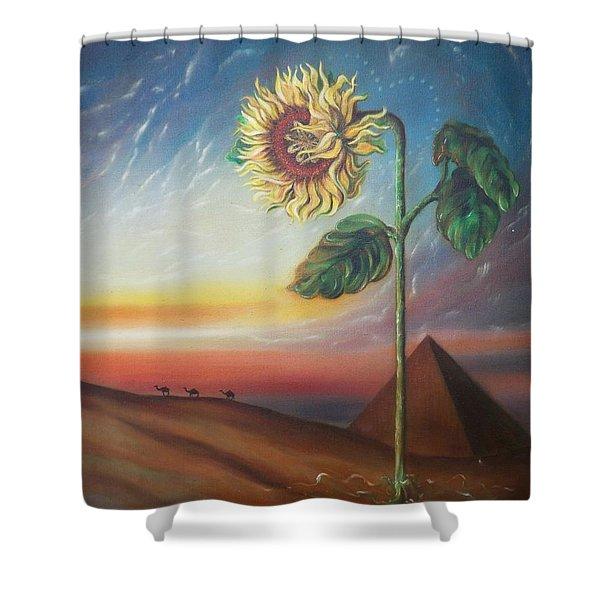 Blaa Kattproduksjoner              Ancient Energy Shower Curtain
