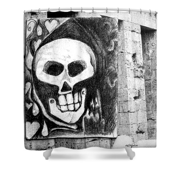 Ancient Skull Shower Curtain