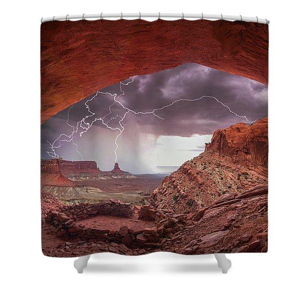 Ancient Storm 2 Shower Curtain