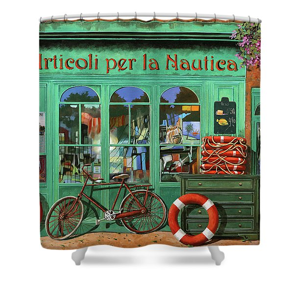 Ancora Una Bicicletta Rossa Shower Curtain