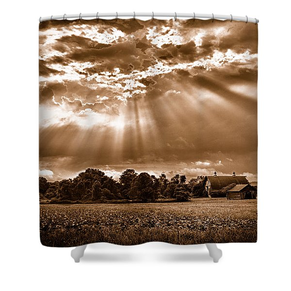 And The Heavens Opened 3 Shower Curtain