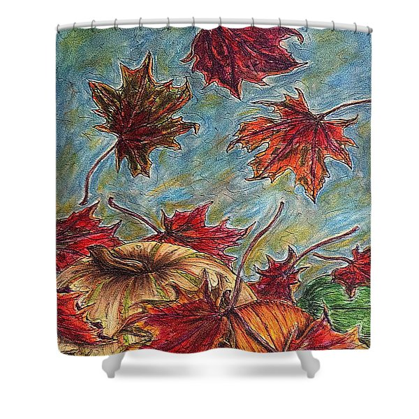 And The Leaves Came Tumbling Down Shower Curtain