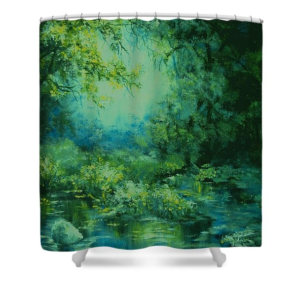 And Time Stood Still Shower Curtain