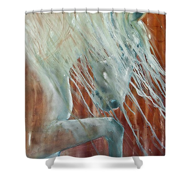 Andalusian Stallion Less Blue Shower Curtain