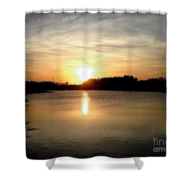 Anderson Stormwater Park In Rockledge Florida Shower Curtain