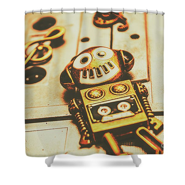 Android Rave Shower Curtain