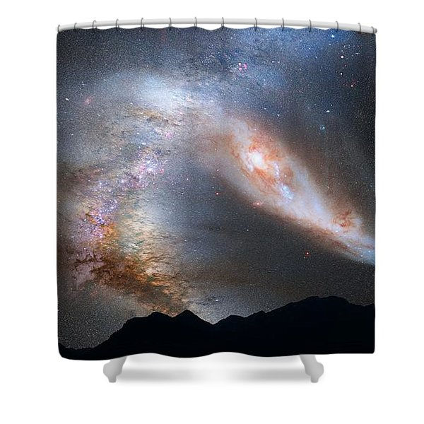 Andromeda-galaxy Shower Curtain