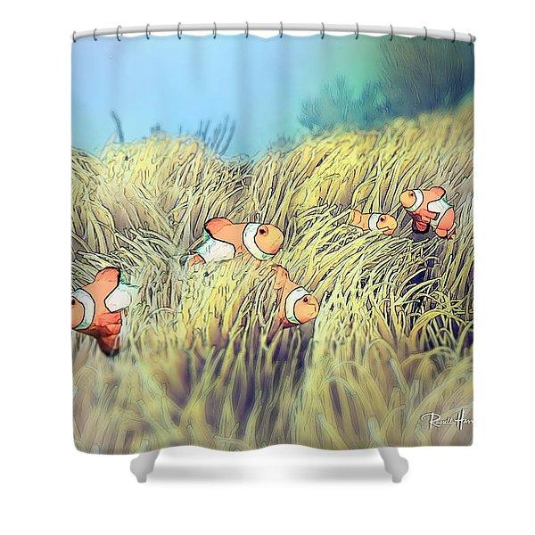 Anemone Clownfish Shower Curtain