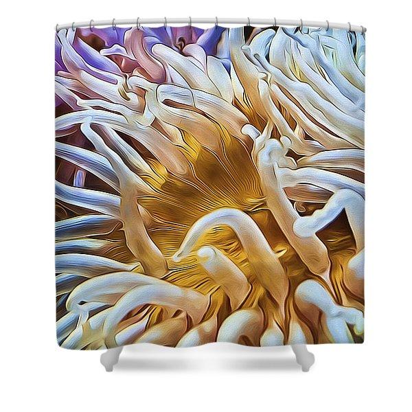 Anemone Flower Shower Curtain