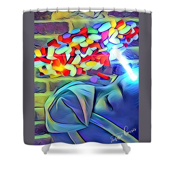 Anesthetized  Shower Curtain