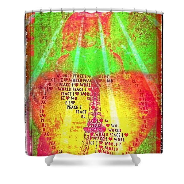 Ange De Paix Mondiale Shower Curtain