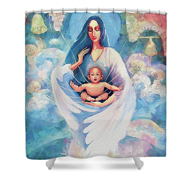 Angel Blessing Shower Curtain