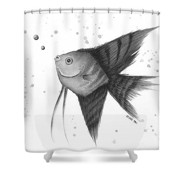 Angel Bubbles Shower Curtain