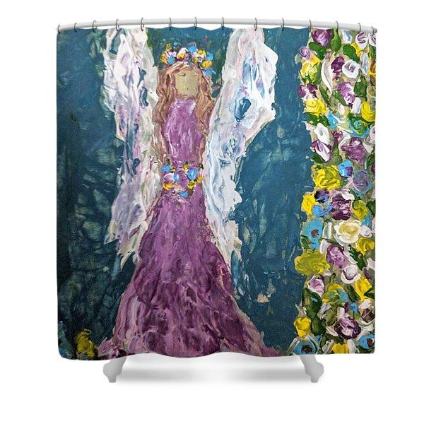Angel Diva Shower Curtain