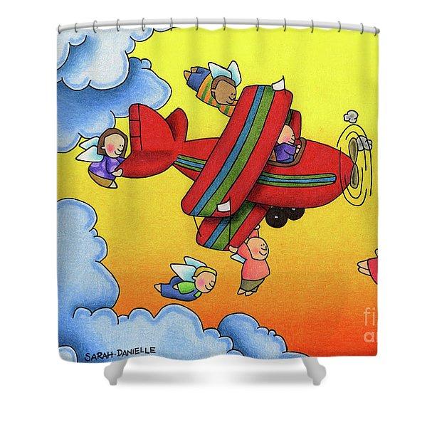 Angel Flight Shower Curtain