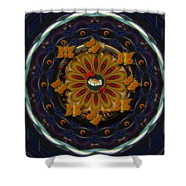 Angel Flower In The Sky Shower Curtain