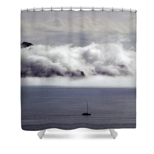 Angel Island Fog Shower Curtain