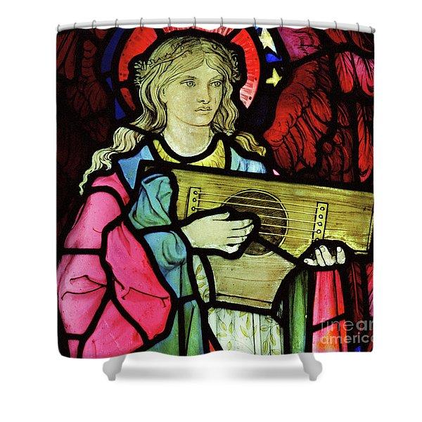 Angel Musician, 1881 Shower Curtain
