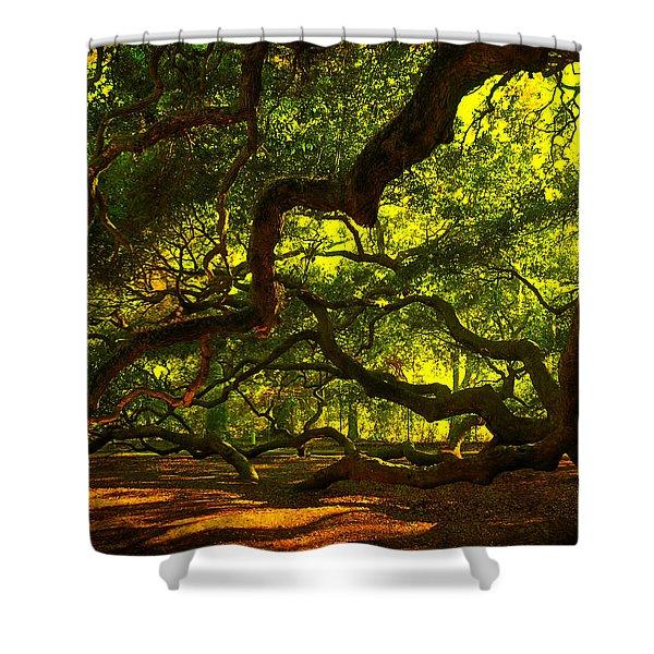 Angel Oak Limbs 2 Shower Curtain