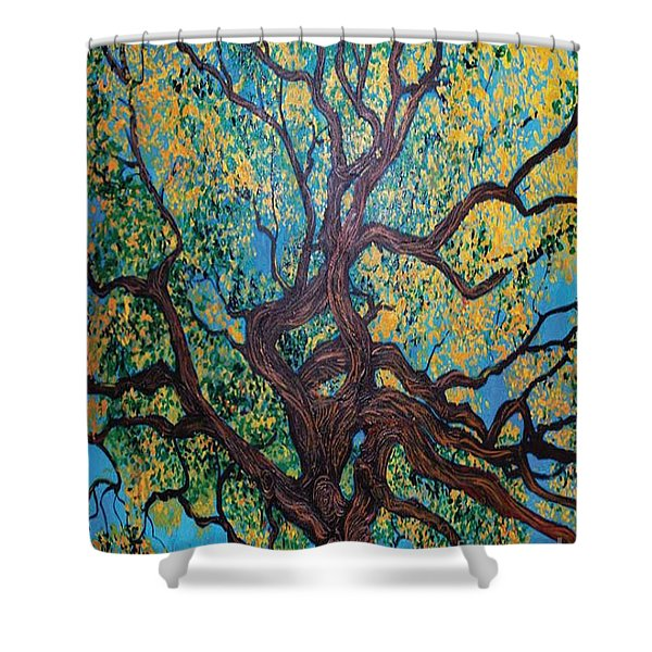 Angel Oak Young Shower Curtain