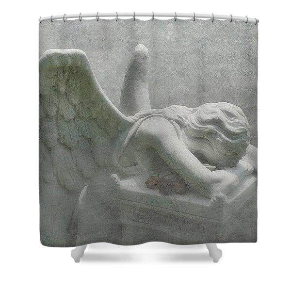 Angel Of Grief Shower Curtain