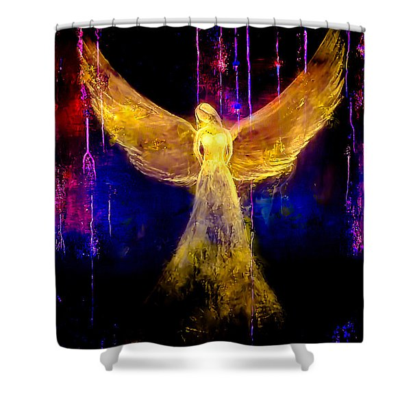Angel Of Light Shower Curtain