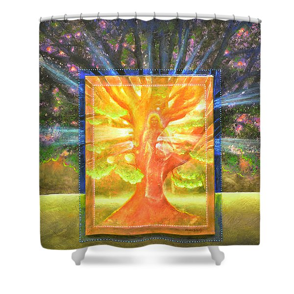 Angel Of The Trees Shower Curtain