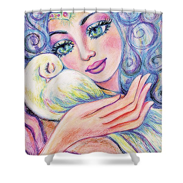 Angel Of Tranquility Shower Curtain