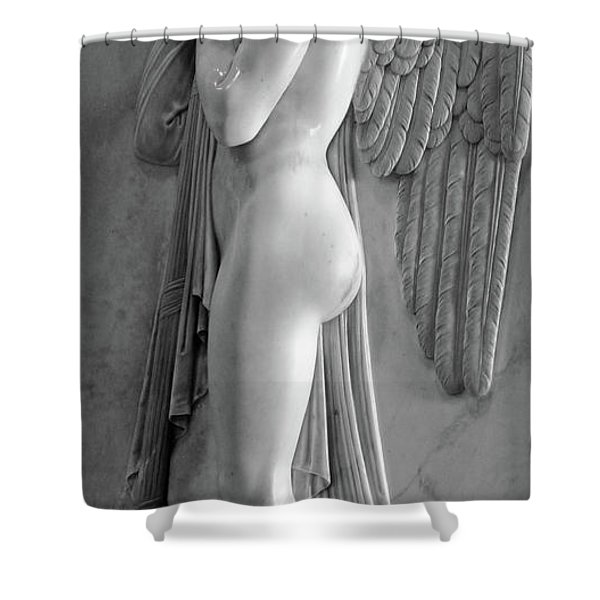 Angel Statue In St.peters Basilica Shower Curtain