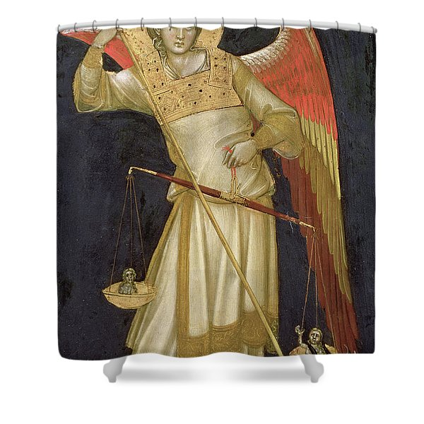 Angel Weighing A Soul Shower Curtain