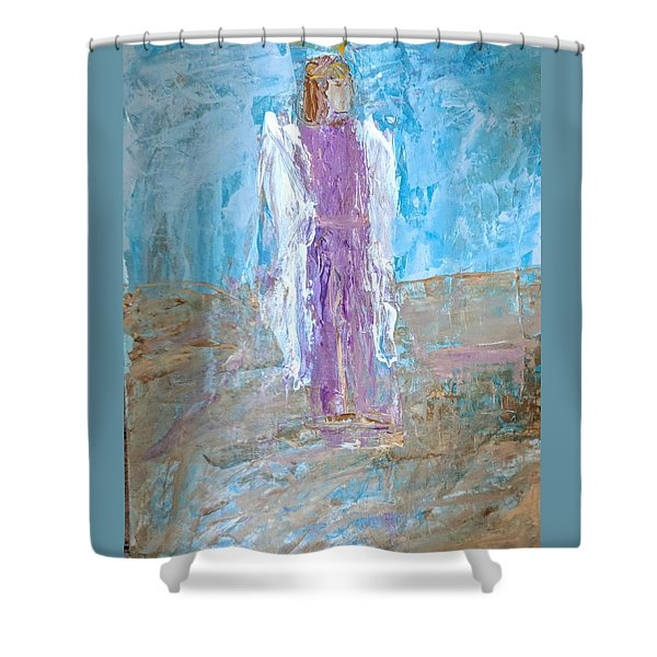 Angel With Confidence Shower Curtain
