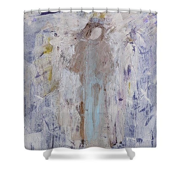 Angel With Her Horse Shower Curtain