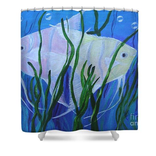 Angelfish Duo Shower Curtain