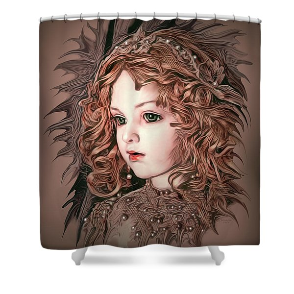 Angelic Doll Shower Curtain