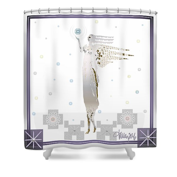Angelic Messenger Shower Curtain