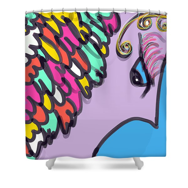 Angelic Observer Shower Curtain
