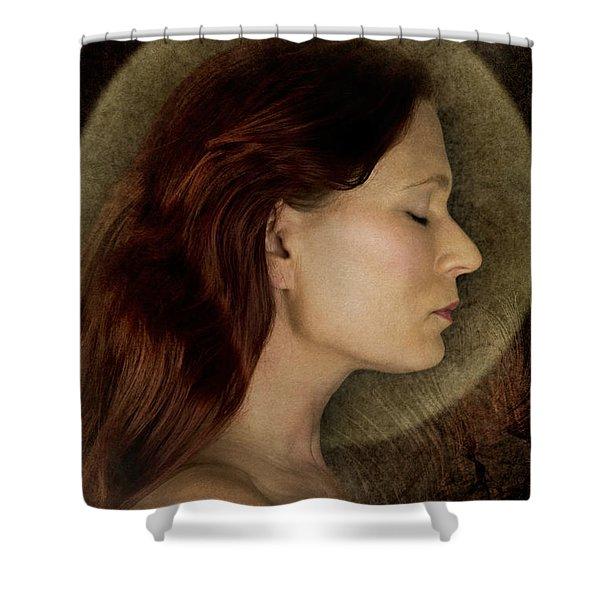 Angelic Portrait Shower Curtain