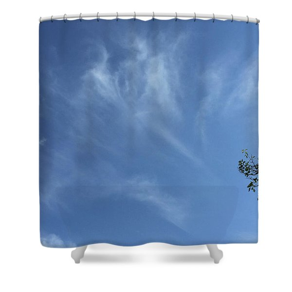 Angels Appear Over The Old Farm Shower Curtain