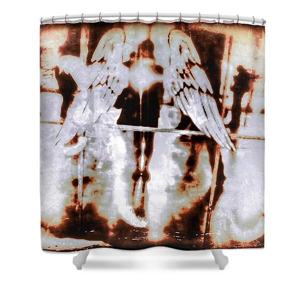 Angels In The Mirror Shower Curtain
