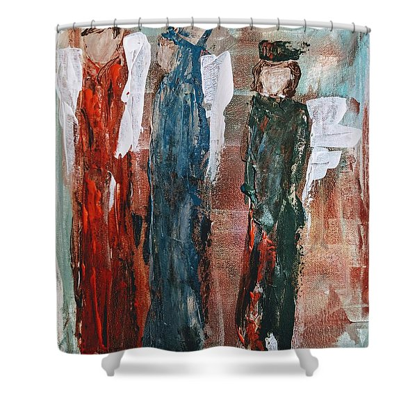 Angels Of The Night Shower Curtain