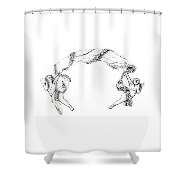 Angels On High Shower Curtain