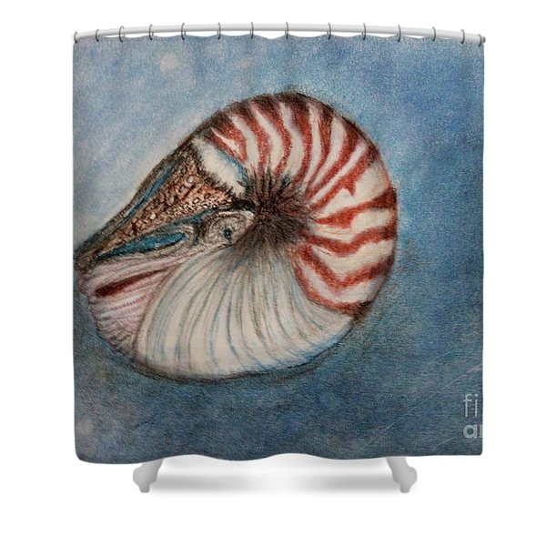 Angel's Seashell  Shower Curtain