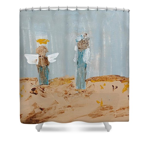 Angels Taking Care Of E Shower Curtain