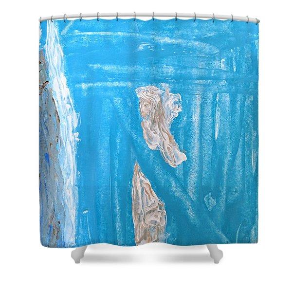 Angels Under A Bridge Shower Curtain