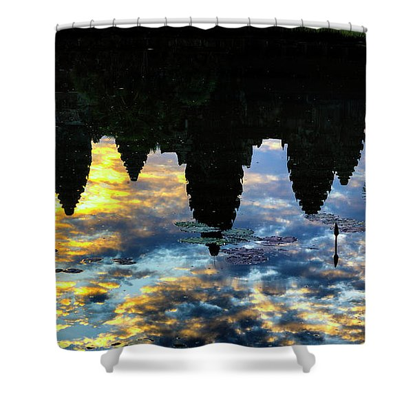 Angkor Reflections Shower Curtain